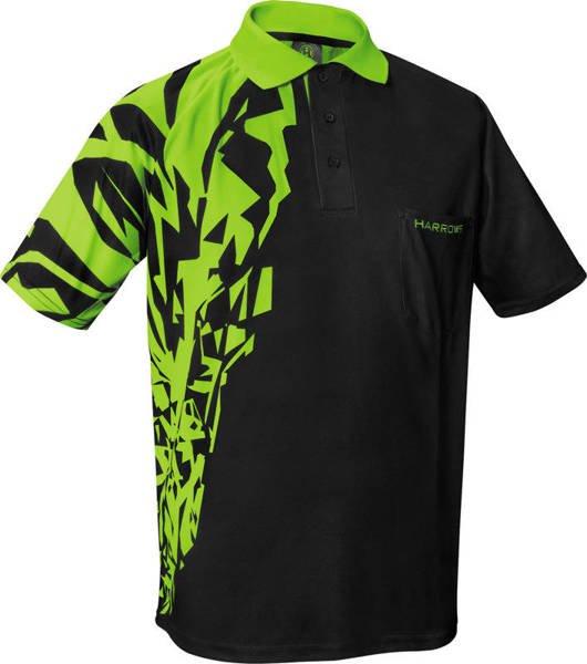 Koszulka polo Harrows Rapide czarno-zielona